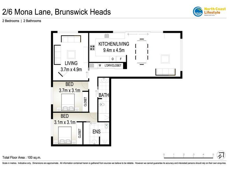 2/6 Mona Lane, Brunswick Heads, NSW 2483 - floorplan