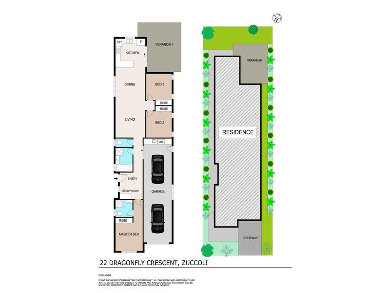 22 Dragonfly Cresent, Zuccoli, NT 0832 - floorplan