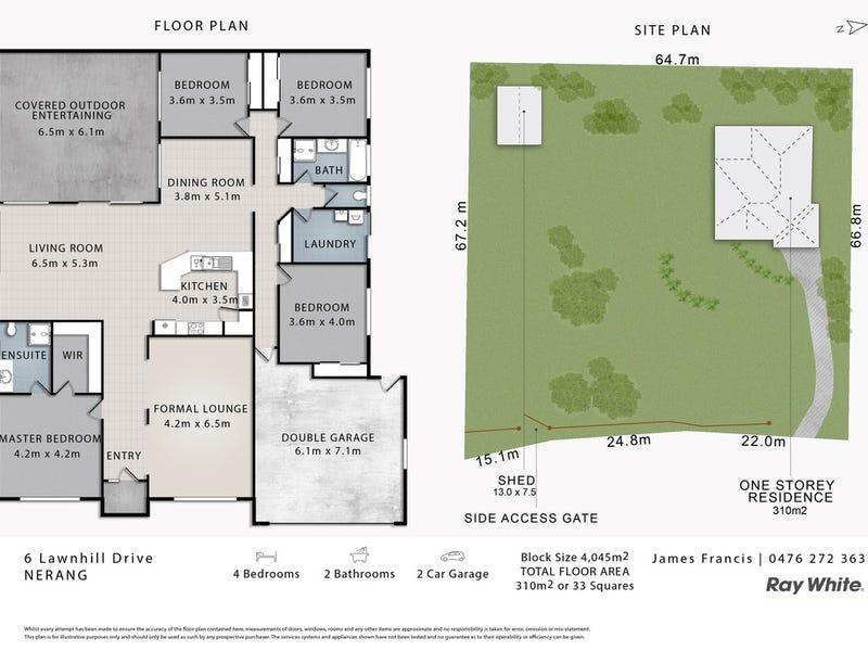 6 Lawnhill Drive, Nerang, Qld 4211 - floorplan