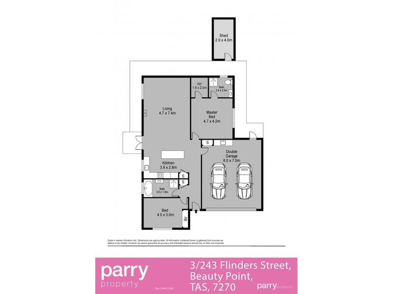 3/243 Flinders Street, Beauty Point, Tas 7270 - floorplan