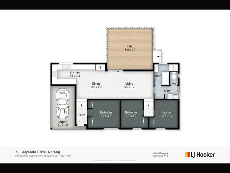 70 Balyando Drive, Nerang, Qld 4211 - floorplan