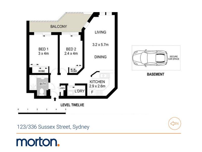 123/336 Sussex Street, Sydney, NSW 2000 - floorplan