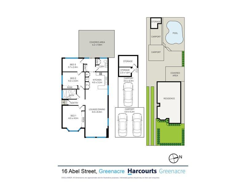 16 Abel Street, Greenacre, NSW 2190 - floorplan