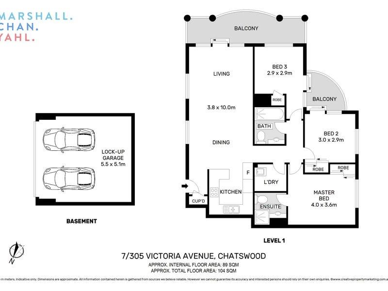 7/305 Victoria Avenue, Chatswood, NSW 2067 - floorplan
