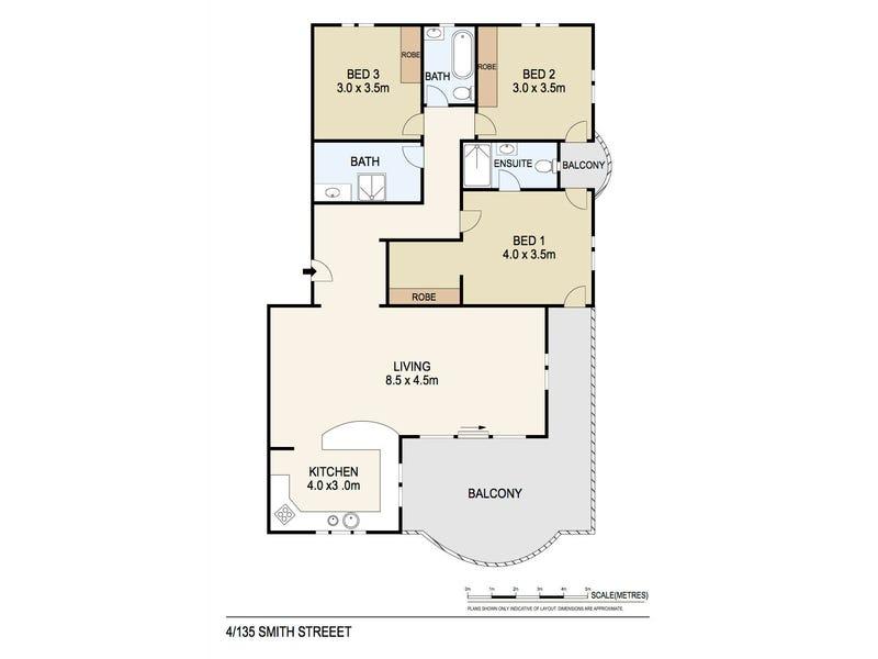 4/135 Smith Street, Larrakeyah, NT 0820 - floorplan