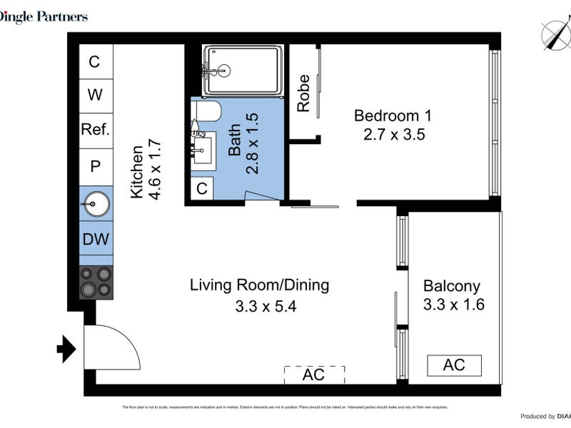 1514/33 MacKenzie Street, Melbourne, Vic 3000 - floorplan