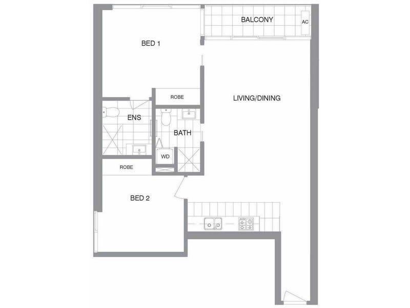 3915/601 Little Lonsdale Street, Melbourne, Vic 3000 - floorplan