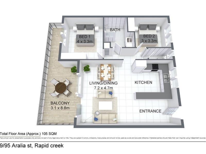 9/95 Aralia Street, Rapid Creek, NT 0810 - floorplan