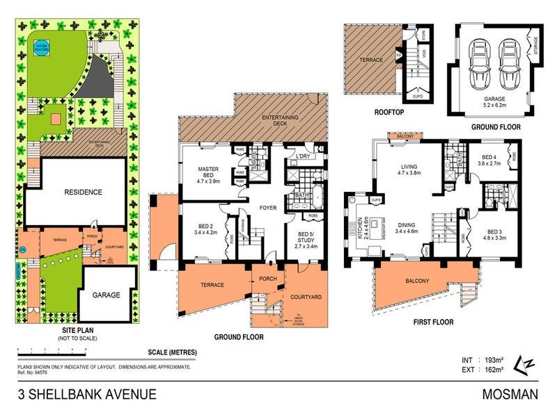 3 Shellbank Avenue, Mosman, NSW 2088 - floorplan