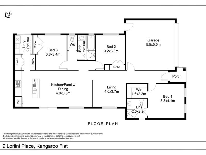 9 Loriini Place, Kangaroo Flat, Vic 3555 - floorplan