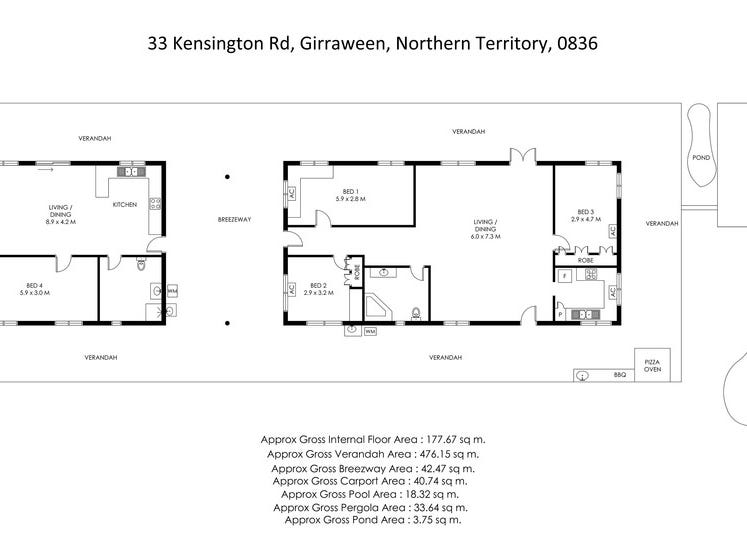 33 Kensington Road, Girraween, NT 0836 - floorplan