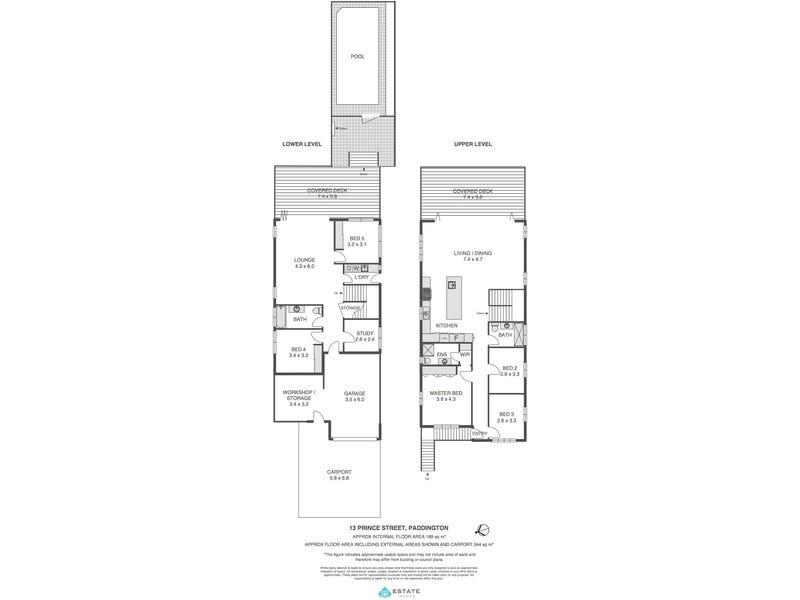 13 Prince St, Paddington, Qld 4064 - floorplan