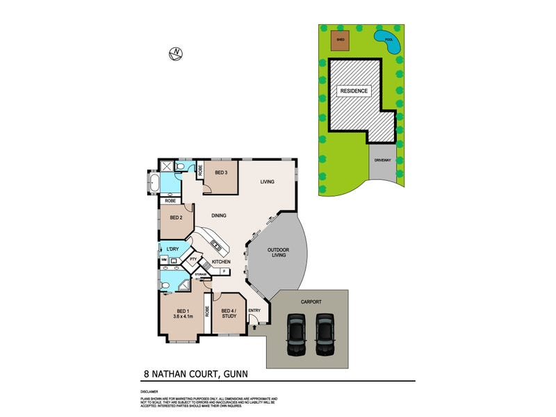 8 Nathan Court, Gunn, NT 0832 - floorplan