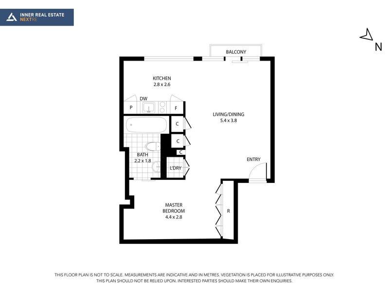 509/399 Bourke Street, Melbourne, Vic 3000 - floorplan