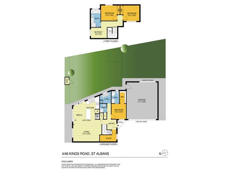 4/46 Kings Road, St Albans, Vic 3021 - floorplan
