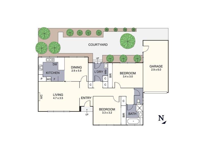 3/309 Upper Heidelberg Road, Ivanhoe, Vic 3079 - floorplan