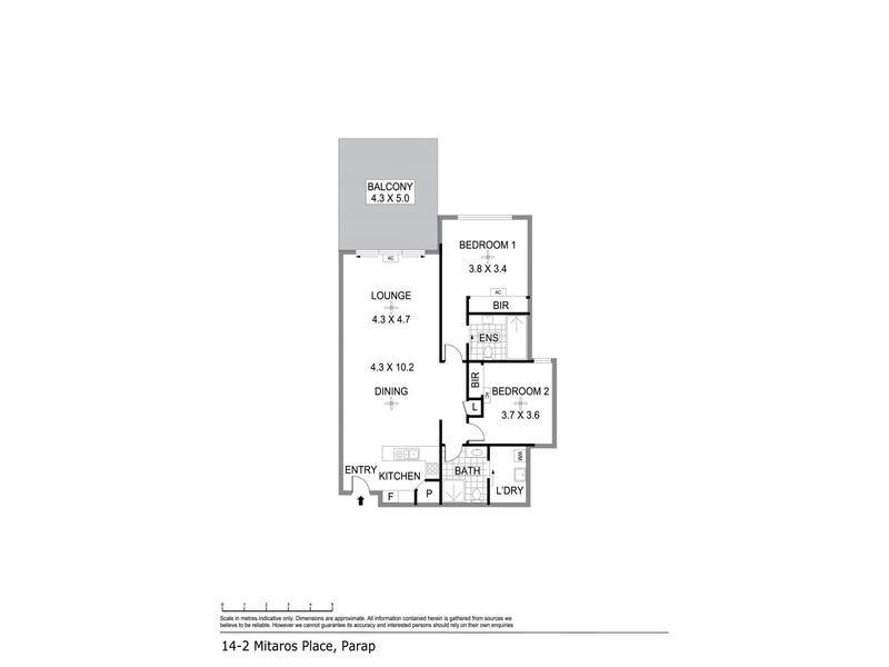 14/2 Mitaros Place, Parap, NT 0820 - floorplan