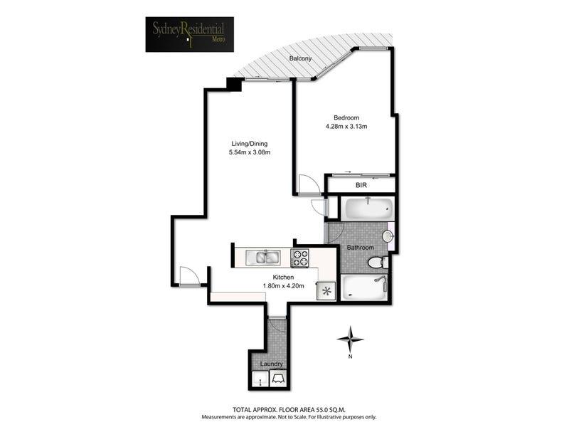 3106/2 Quay Street, Sydney, NSW 2000 - floorplan