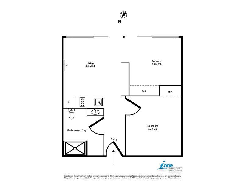 2505/31 A'beckett St, Melbourne, Vic 3000 - floorplan