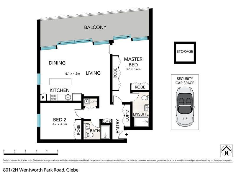 801/2H Wentworth Park Road, Glebe, NSW 2037 - floorplan