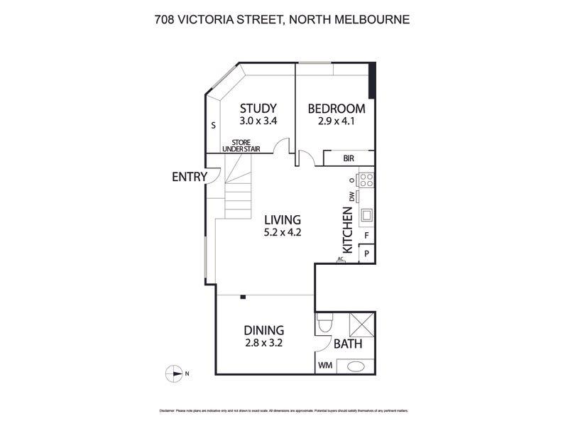 708 Victoria Street, North Melbourne, Vic 3051 - floorplan