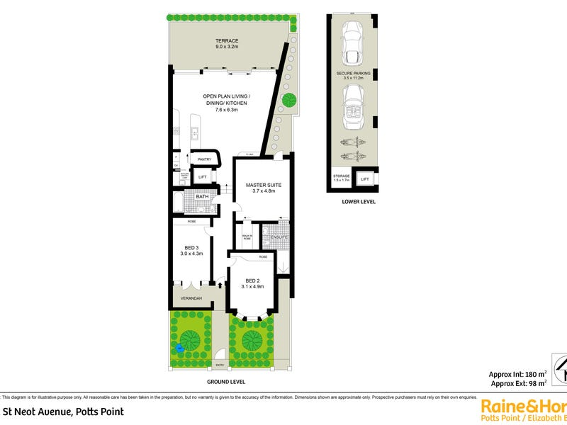 1/12 St Neot Avenue, Potts Point, NSW 2011 - floorplan