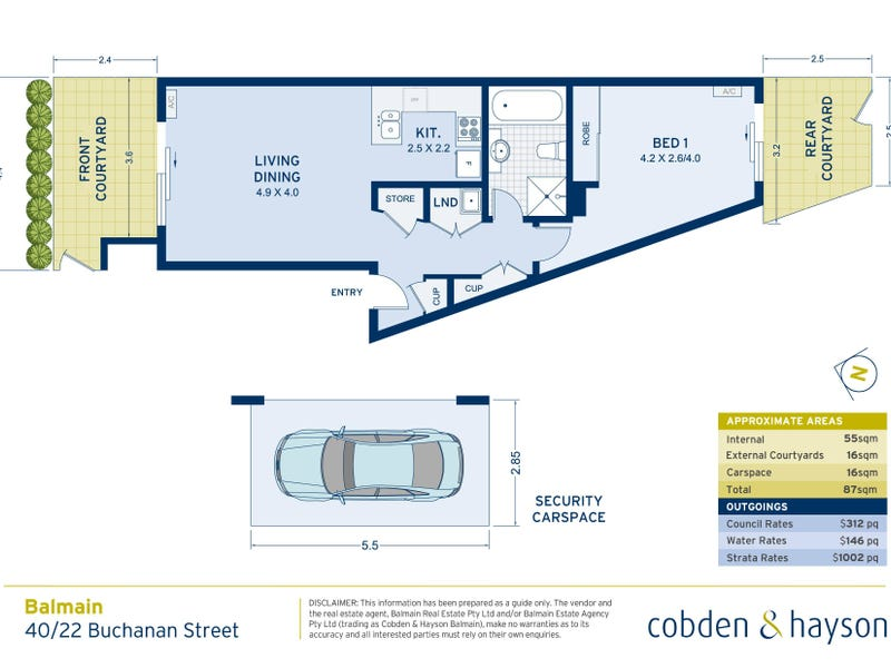 40/22 Buchanan Street, Balmain, NSW 2041 - floorplan