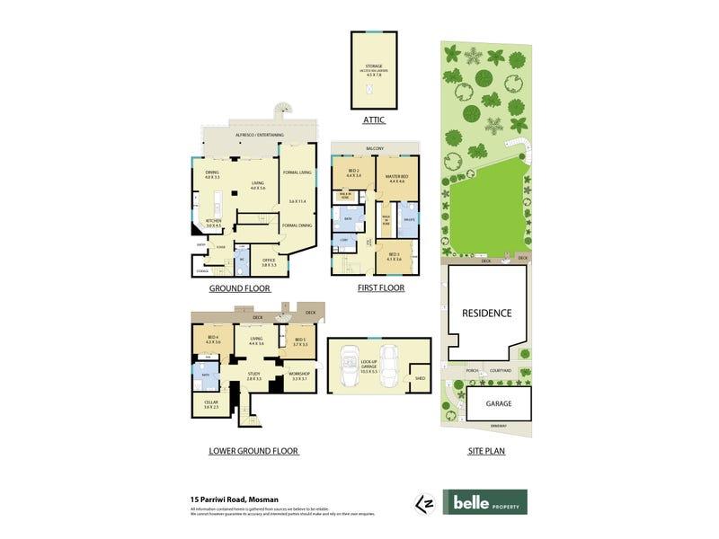 15 Parriwi Road, Mosman, NSW 2088 - floorplan