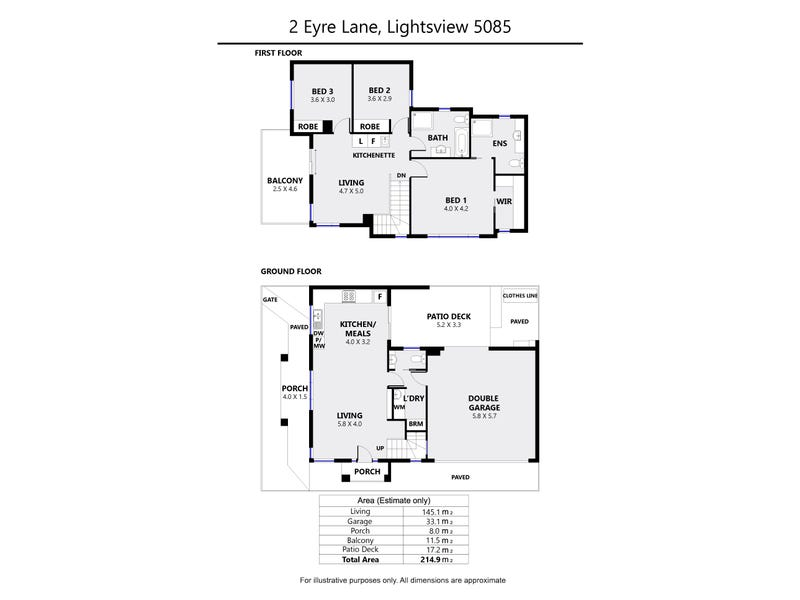 2 Eyre Lane, Lightsview, SA 5085 - floorplan
