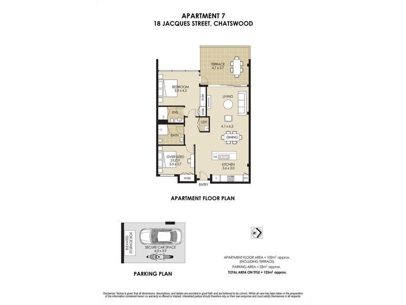 7/18 Jacques Street, Chatswood, NSW 2067 - floorplan