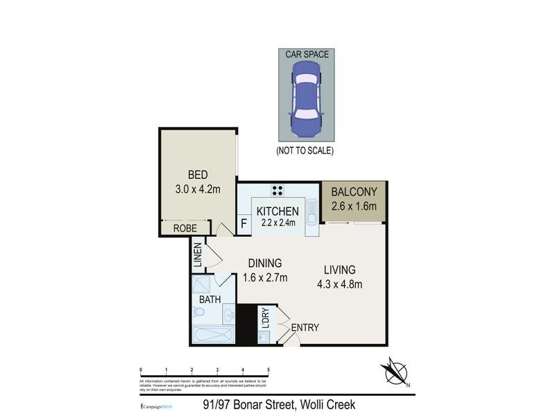 91/97 Bonar Street, Wolli Creek, NSW 2205 - floorplan