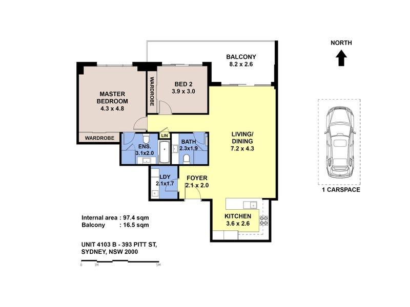 4103B/393 Pitt Street, Sydney, NSW 2000 - floorplan