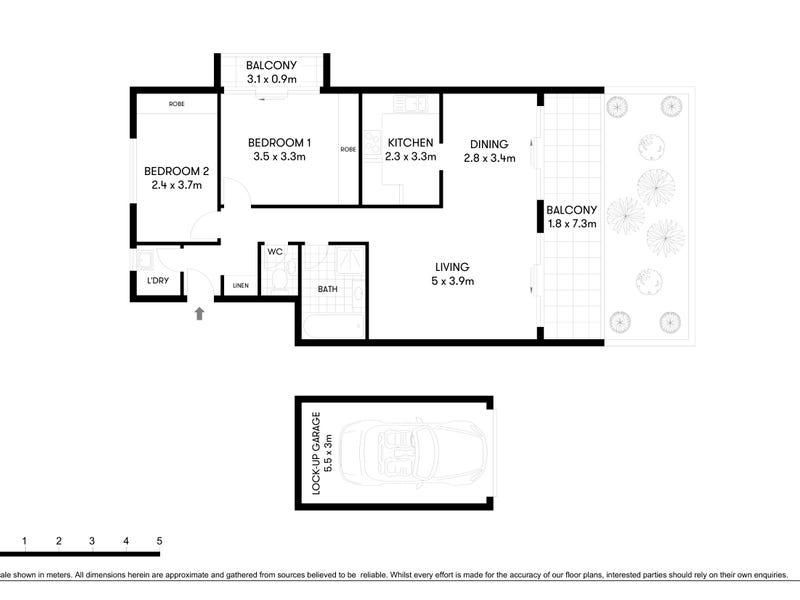 1/25 View Street, Chatswood, NSW 2067 - floorplan