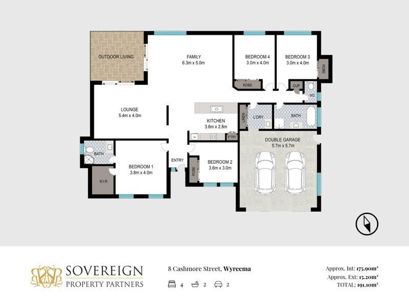 8 Cashmore Street, Wyreema, Qld 4352 - floorplan