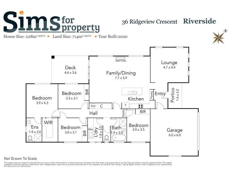 36 Ridgeview Crescent, Riverside, Tas 7250 - floorplan
