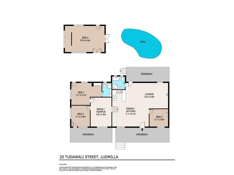 20 Tudawali Street, Ludmilla, NT 0820 - floorplan