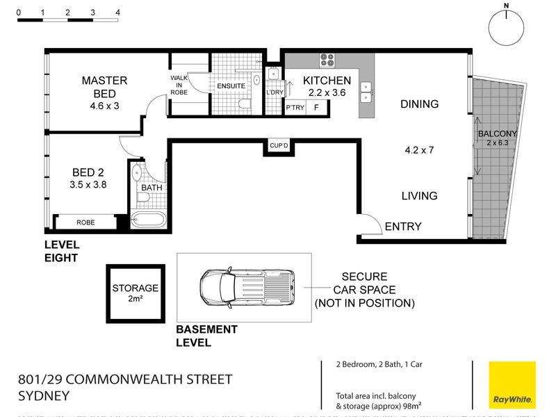 801/29 Commonwealth Street, Sydney, NSW 2000 - floorplan