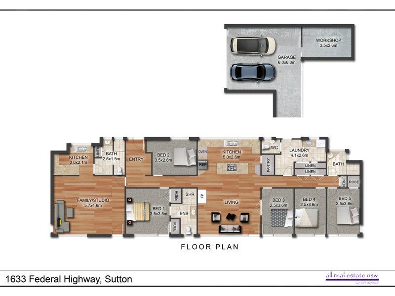 1633 Federal Highway, Sutton, NSW 2620 - floorplan