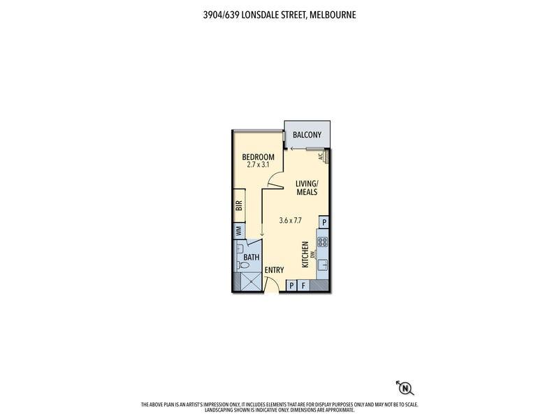 3904/639 Lonsdale street, Melbourne, Vic 3000 - floorplan