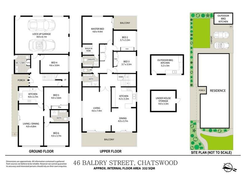 46 Baldry Street, Chatswood, NSW 2067 - floorplan