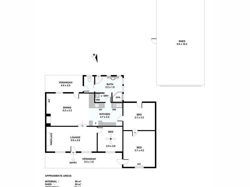 19 Jollytown Road, Lyndoch, SA 5351 - floorplan