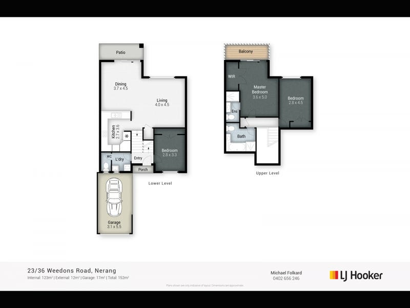 23/36 Weedons Road, Nerang, Qld 4211 - floorplan