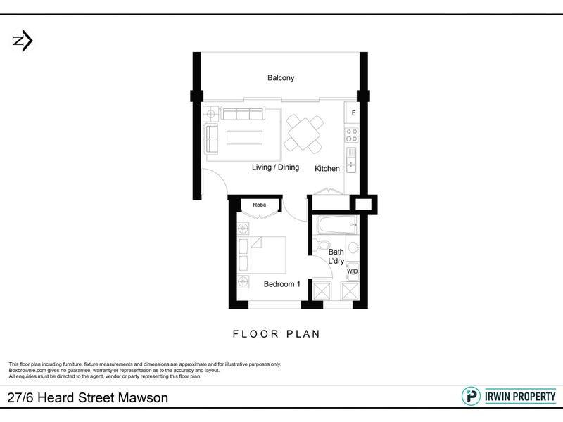 27/6 Heard Street, Mawson, ACT 2607 - floorplan