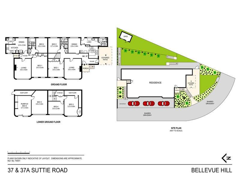 37 & 37A Suttie Road, Bellevue Hill, NSW 2023 - floorplan