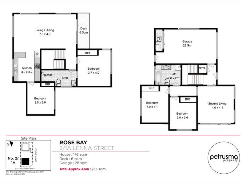 2/1A Lenna Street, Rose Bay, Tas 7015 - floorplan