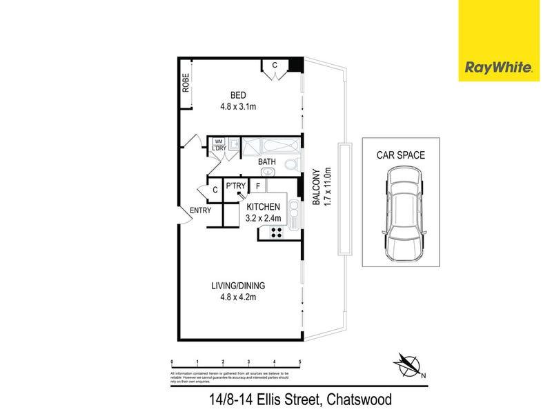 14/8-14 Ellis Street, Chatswood, NSW 2067 - floorplan