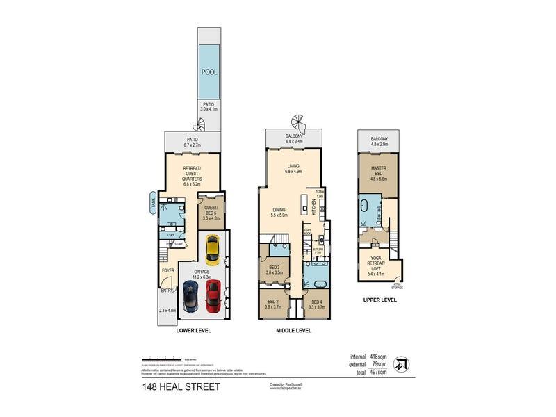 148 Heal Street, New Farm, Qld 4005 - floorplan