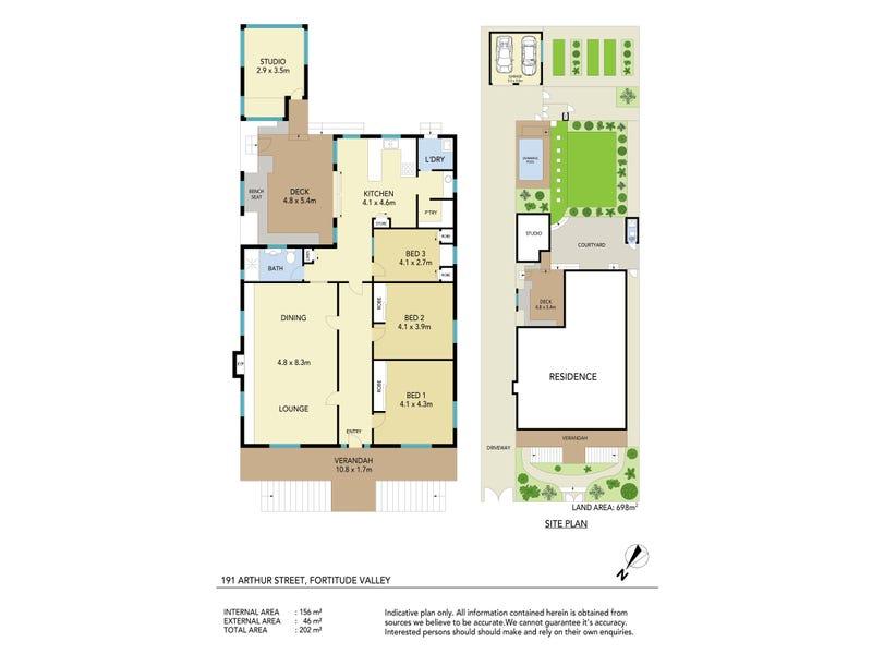 191 Arthur St, Fortitude Valley, Qld 4006 - floorplan