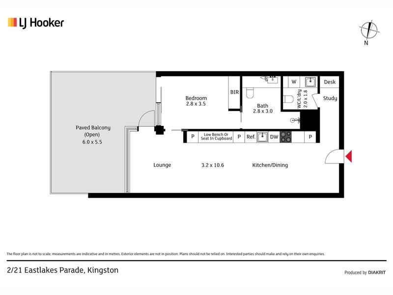 2/21 Eastlake Parade, Kingston, ACT 2604 - floorplan