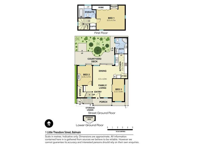 1 Little Theodore Street, Balmain, NSW 2041 - floorplan